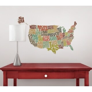 US Map Decal - Set of 6