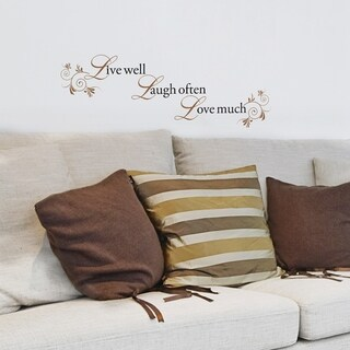 Live Well, Laugh Often, Love Much Decal - Set of 6