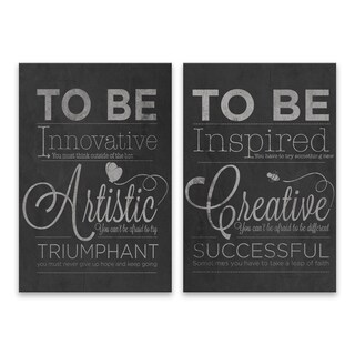 Artistic & Creative Typography Wall Decals - 2 Piece Set
