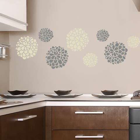 Floral Decal - Set of 6