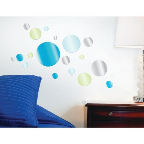 Blue Dot Mirror Decal - Set of 6