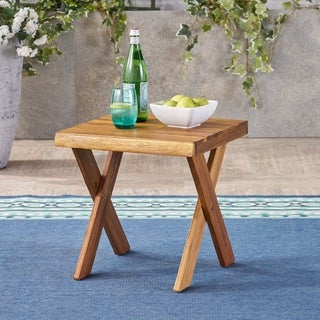 Link to Eaglewood Outdoor Acacia Wood Side Table by Christopher Knight Home Similar Items in Outdoor Coffee & Side Tables