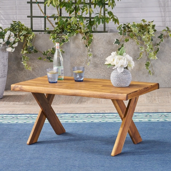 Eaglewood Outdoor Acacia Wood Coffee Table by Christopher Knight Home
