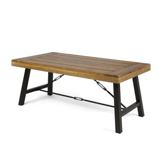 Catriona Outdoor Acacia Wood Coffee Table by Christopher Knight Home
