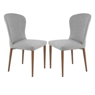 Poly and Bark Creston Dining Chair in Grey (Set of 2)