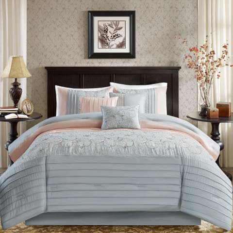 Madison Park Belle Embroidered 7 Piece Comforter Set