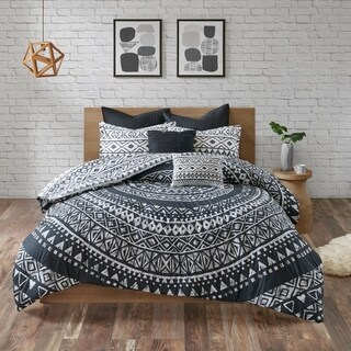 Urban Habitat Cora Black 7 Piece Cotton Reversible Comforter Set