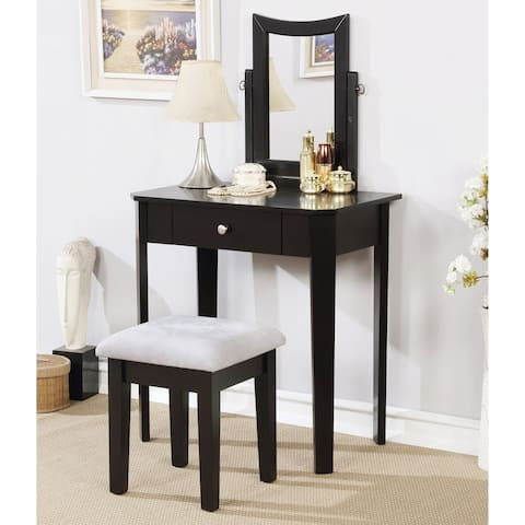 Furniture of America Quol Contemporary Solid Wood 3-piece Vanity Set