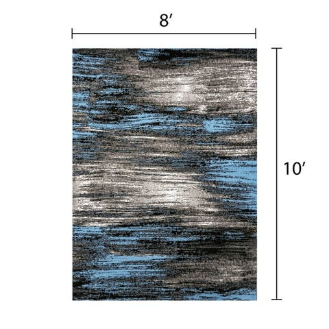 Furniture of America Vatz Contemporary Polyester Brushed Rug