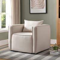 Furniture of America Hayden Faux Linen Accent Chair