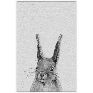 Marmont Hill - Handmade Gray Bunny II Floater Framed Print on Canvas