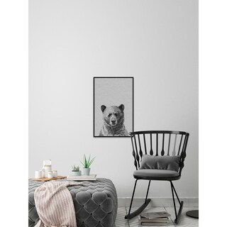 Cutie Bear' Floater Framed Painting Print on Canvas