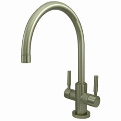 Satin Nickel Arched Kitchen Faucet