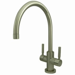 Ordinaire Satin Nickel Arched Kitchen Faucet