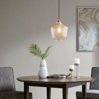Madison Park Alexandria Silver Rounded Pendant