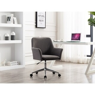 Porthos Home Contemporary Fabric Office Chair Switch Footers & Casters (2 options available)