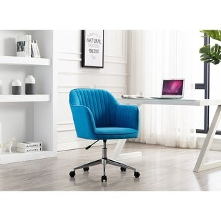 Porthos Home Fabric Office Chair With Switch Footers & Casters Both