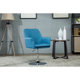Porthos Home Fabric Pedestal Swivel Office Desk Chair with Padded Arms
