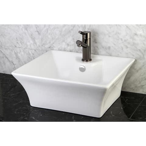 White Vitreous China Vessel Sink