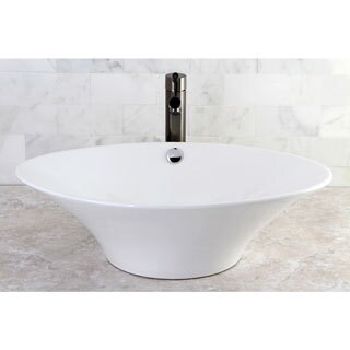 White Vessel Lavatory Sink