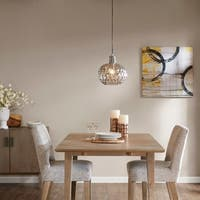 Madison Park Dayton Grey Glass Pendant Light