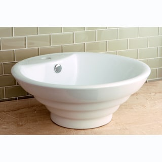 Round Vitreous China Single-Basin Vessel Sink