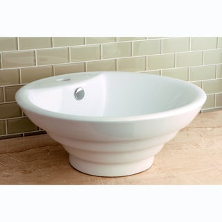 Round Vitreous China Single-Basin Vessel Sink