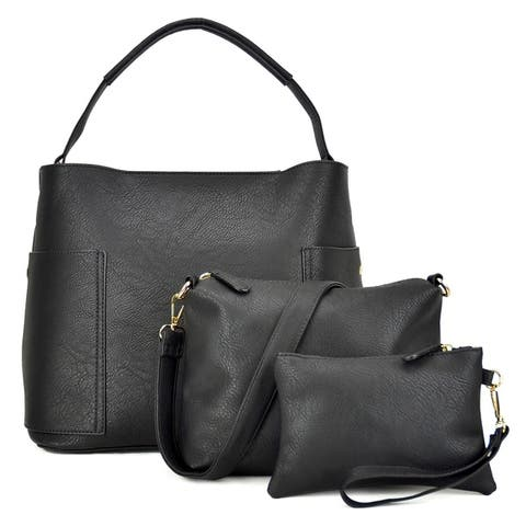 798fead78743 Dasein 3-in-1 Fashion Hobo with Matching Organizer Bag and Wristlet