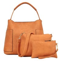 Dasein 3-in-1 Fashion Hobo with Matching Organizer Bag and Wristlet