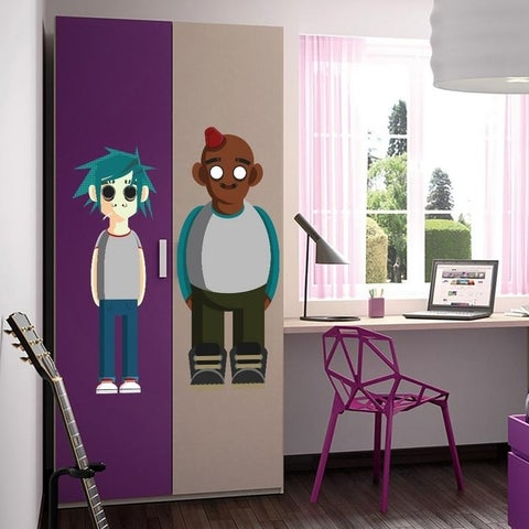 """Music Band Full Color Wall Decal Sticker AN-567 FRST Size 30""""x47"""""""
