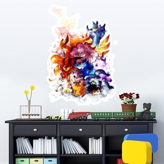 "Pokemon Anime Full Color Wall Decal Sticker AN-574 FRST Size 46""x56"""