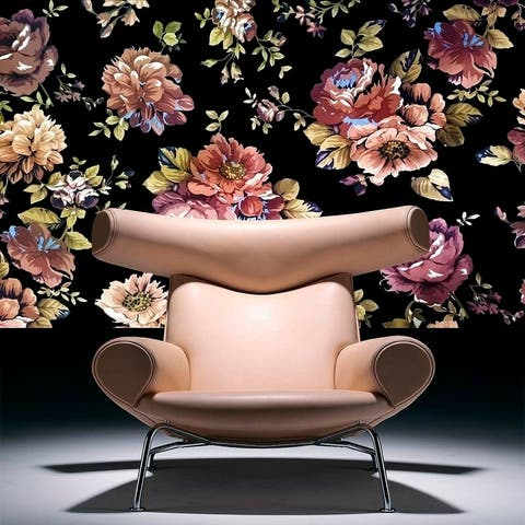 "Flowers Pions Full Color Wall Decal Sticker AN-613 FRST Size 40""x80"""