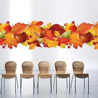 """Leaves Fall Full Color Wall Decal Sticker AN-608 FRST Size 52""""x104"""""""