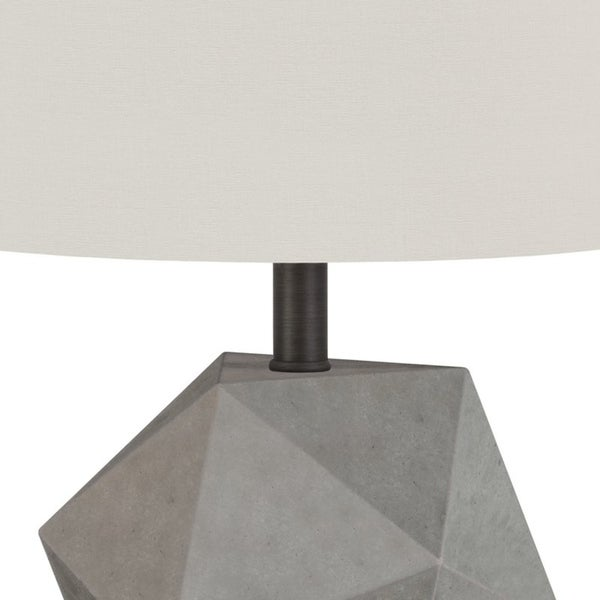 Kylo table lamp in concrete