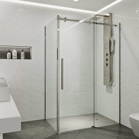 VIGO Alameda Frameless Sliding Door Shower Enclosure