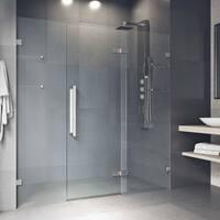 VIGO Seneca Stainless Steel 72x74-inch Adjustable Frameless Hinged Shower Door