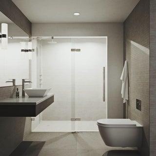 VIGO Rochelle 48-inch Adjustable Frameless Hinged Shower Door
