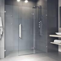 VIGO Seneca Chrome 72x74-inch Adjustable Frameless Hinged Shower Door