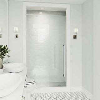 VIGO Cameo Clear 42-inch Adjustable Frameless Pivot Shower Door