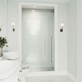 Pivot shower doors for less overstock vigo cameo chrome 42x74 inch adjustable frameless pivot shower door planetlyrics Choice Image
