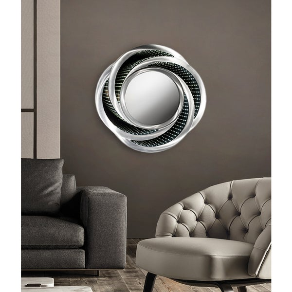 Shop Nova Lighting Swirl Infinity LED Mirror, Silver