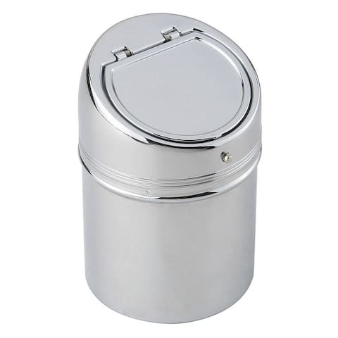 Cylinder Stainless Steel Cigarette Ashtray