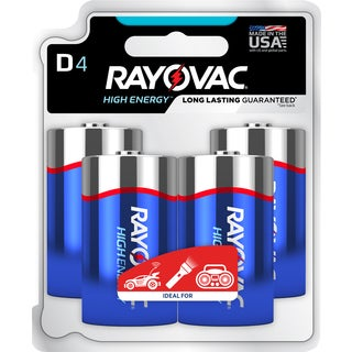 Rayovac High Energy Alkaline Batteries 4/Pkg