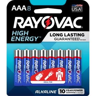 Rayovac High Energy Alkaline Batteries 8/Pkg