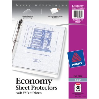 Avery Economy Clear Sheet Protectors 30/Pkg