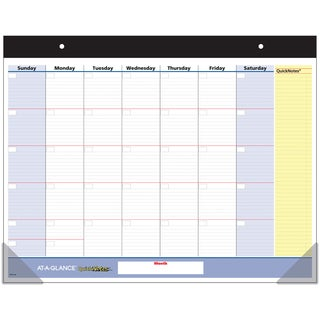 """AT-A-GLANCE QuickNotes Undated Monthly Desk Pad 22""""X17"""""""
