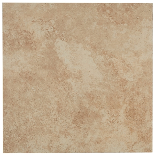 Glazed Porcelain 13x13-inch Stone Look Field Tile in Sample 4x4 White Yellow Square