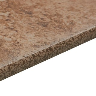 Glazed Porcelain 3x13-inch Stone Look Field Bullnose in Noce - 3x13