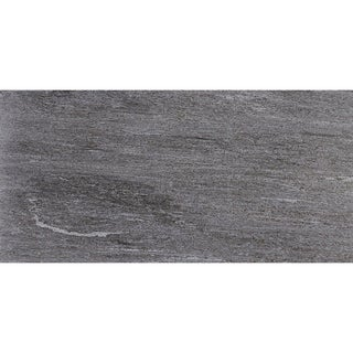 Quartzite Inspired 12x24-inch Polished Porcelain Floor Tile in Global Gray - 12x24