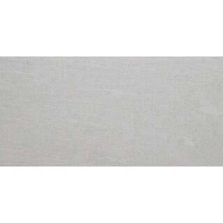 Quartzite Inspired 12x24-inch Unpolished Porcelain Floor Tile in Wanderlust White - 12x24